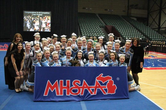 Richmond High School celebrates its first state cheerleading championship since 2013.