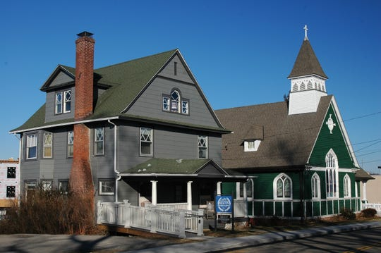 St. Andrew's Episcopal Church rectory, left, was built in 1903 along South Avenue in the City of Beacon. In 2017, the Beacon Historical Society began to rent it and maintains its offices and stages various exhibits there. The society also holds programs in the historic church, which was constructed in 1900.