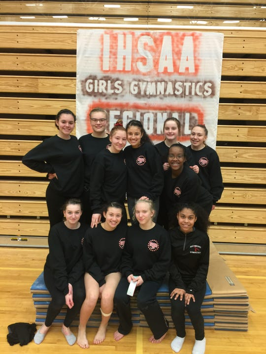 Richmond High School's gymnastics team advanced to the IHSAA state finals.