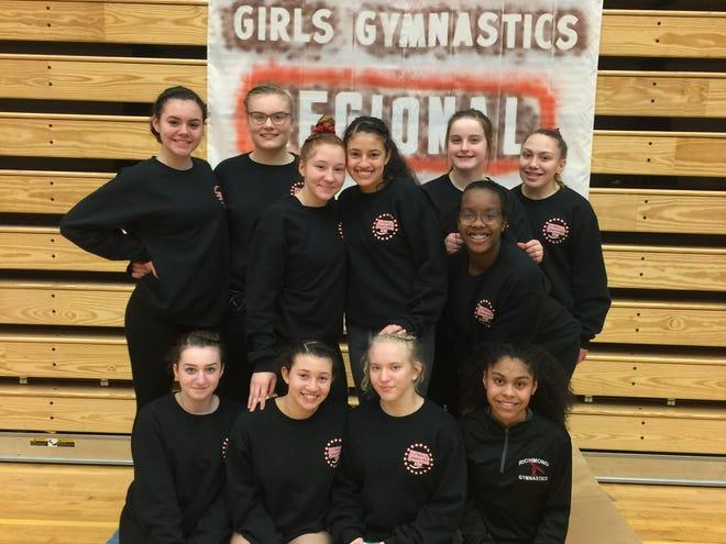 Richmond High School's gymnastics team advanced to the IHSAA state finals.