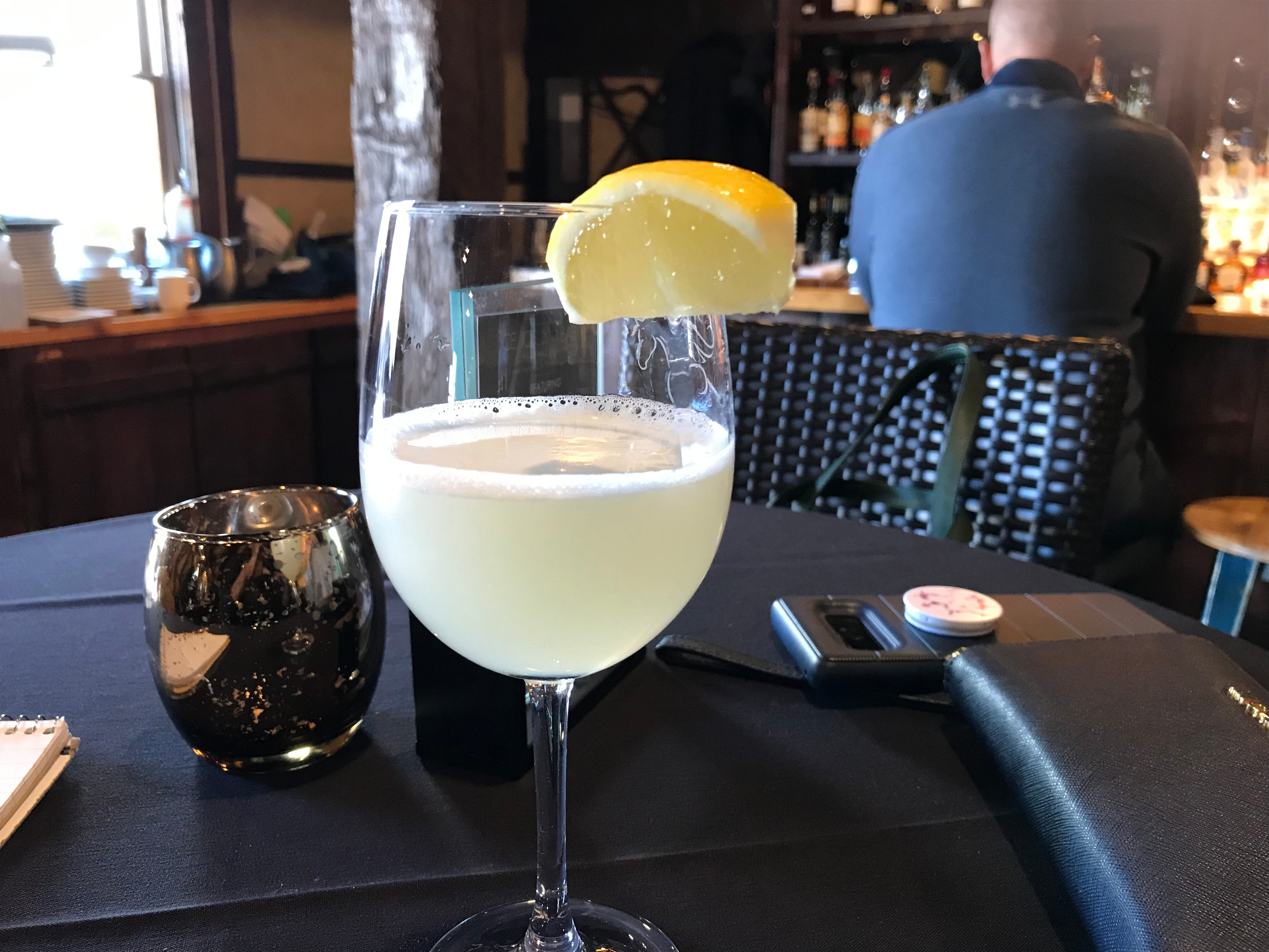 Vodka ice wine martinis were featured on the menu at the Granary during the launch of ice wine, along with rum and bourbon ice wine martinis.