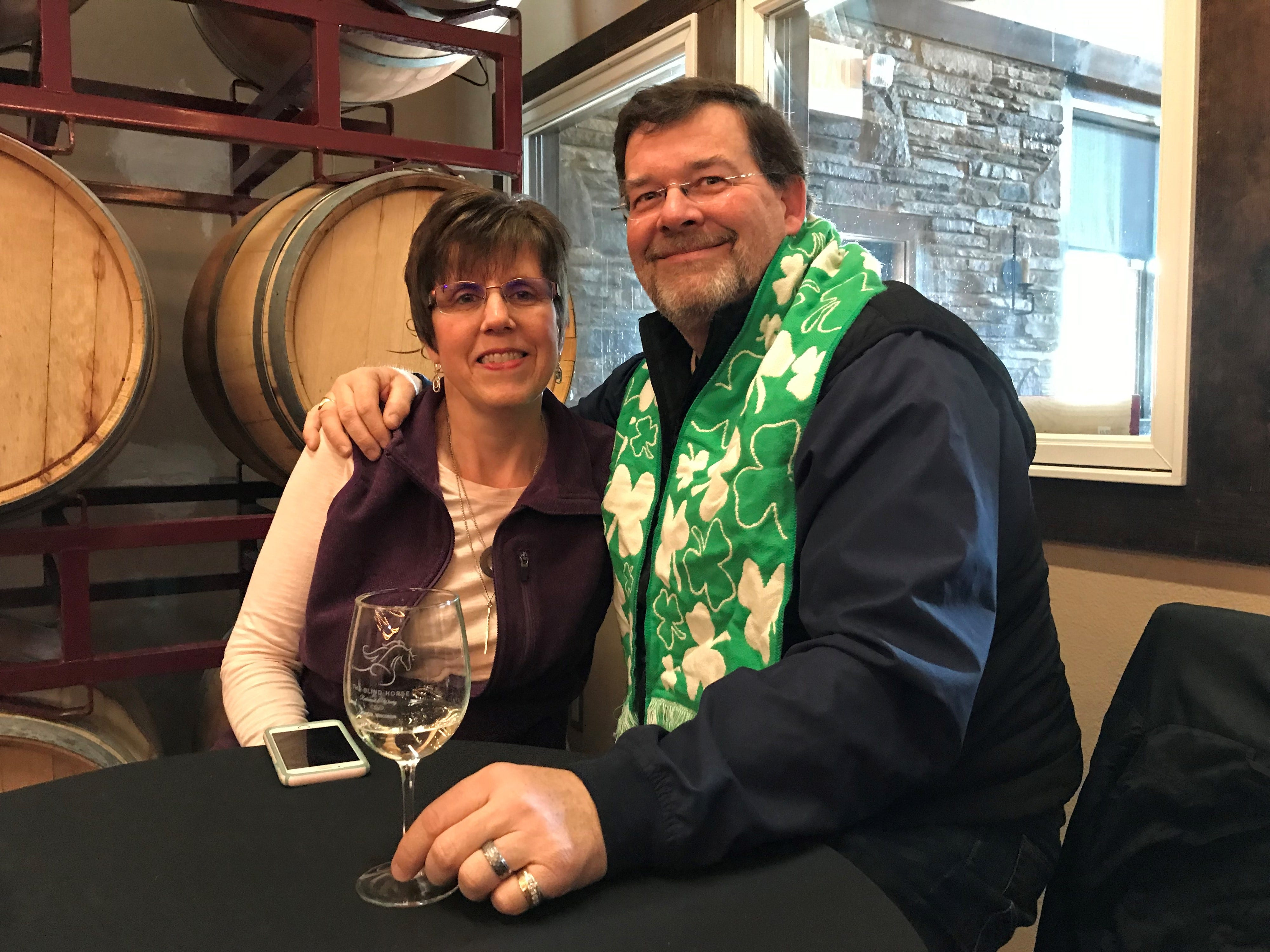 Cheri and Steve Ewig attended the launch of the second round of ice wine are part of the Blind Horse's wine club. The pair love the atmosphere of the Blind Horse and are huge fans of the ice wine offered.
