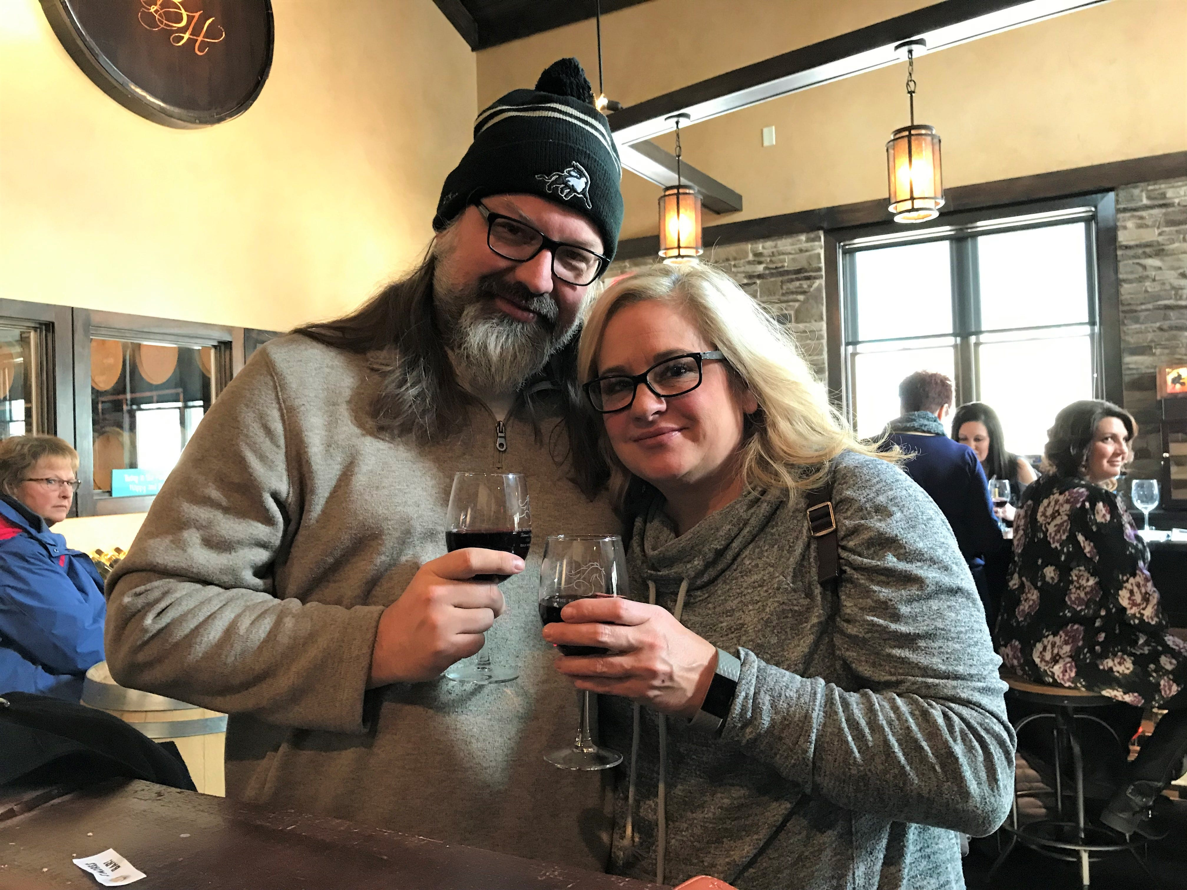 Robyn Camplejohn and Allen Dickert had never tried ice wine before Saturday but loved it so much they bought a bottle. The pair also found a number of wines they weren't even aware of before they went to the Blind Horse.