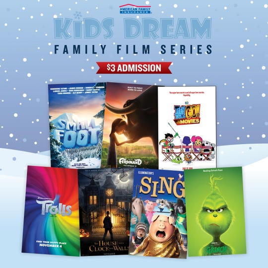 Families in search of affordable indoor activities to ride out the final weeks of winter will welcome the return of the Kids Dream Film Series presented by American Family Insurance. Held at select Marcus Theatres® and Marcus Wehrenberg Theatres, Kids Dream brings recent family favorites back to the big screen for an admission price of just $3 per person.