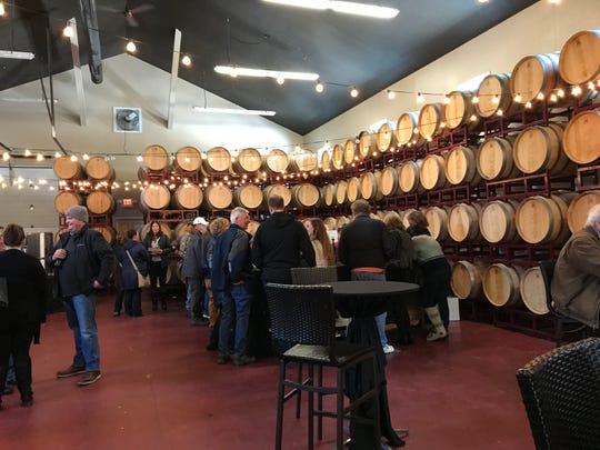 Scene from the ice wine launch party at the Blind Horse Restaurant and Winery on Saturday, March 2 in Kohler, WI.
