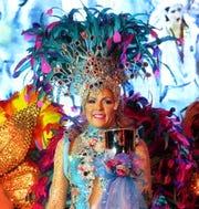 "Krewe de les Femmes Mystique Queen XX Cassondra Glausier at""Road to Rio,""  20th Anniversary Grand Bal."