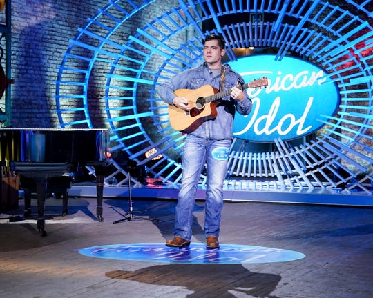 "Tyler Mitchell, of Florien, La., auditions for the celebrity judges on ""American Idol."""