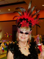 "Sherry Martin at Krewe de les Femmes Mystique Grand Bal, ""Road to Rio."""