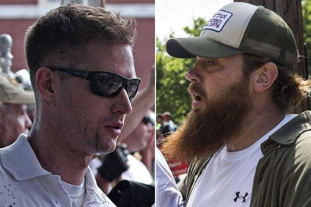 """Charlottesville, Virginia, police are still looking for two of the six men who attacked DeAndre Harris, a 20-year-old black man, in a city parking garage during the 2017 """"Unite the Right"""" rally in Charlottesville."""