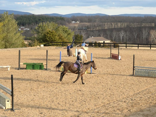 The riding ring at Jason Berry Stables in Verona.