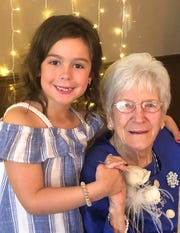Six year old,  Emme Grey Clark, daughter of Amy and Shane Clark, Thomasville, wished Marie Bradley a Happy 100th Birthday!