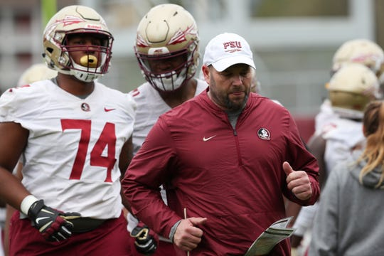 Florida State University football held their first spring practice Monday, March 4, 2019.