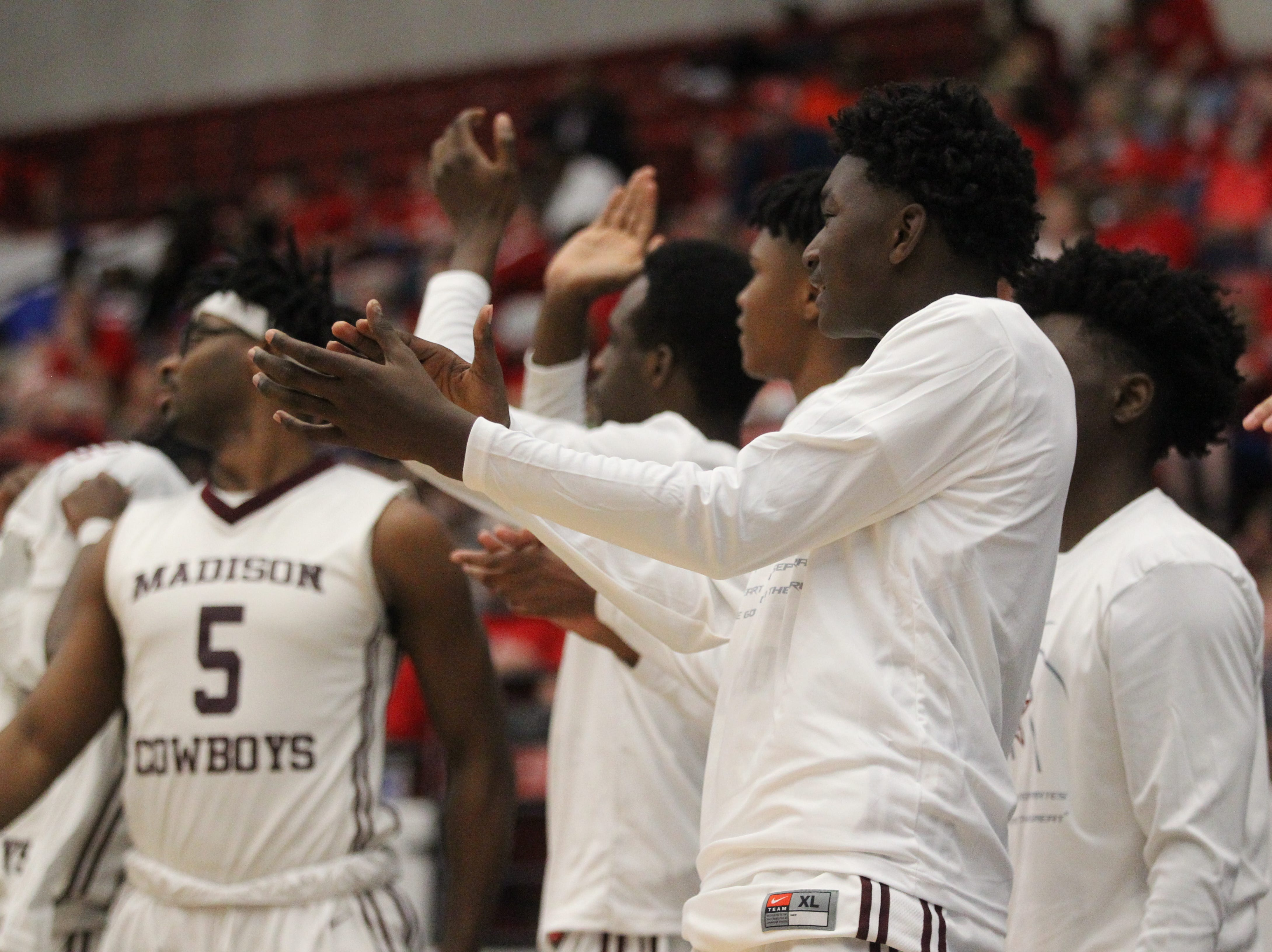 Madison County beat Paxton 63-51 during a Class 1A state semifinal game at the RP Funding Center in Lakeland on March 4, 2019.