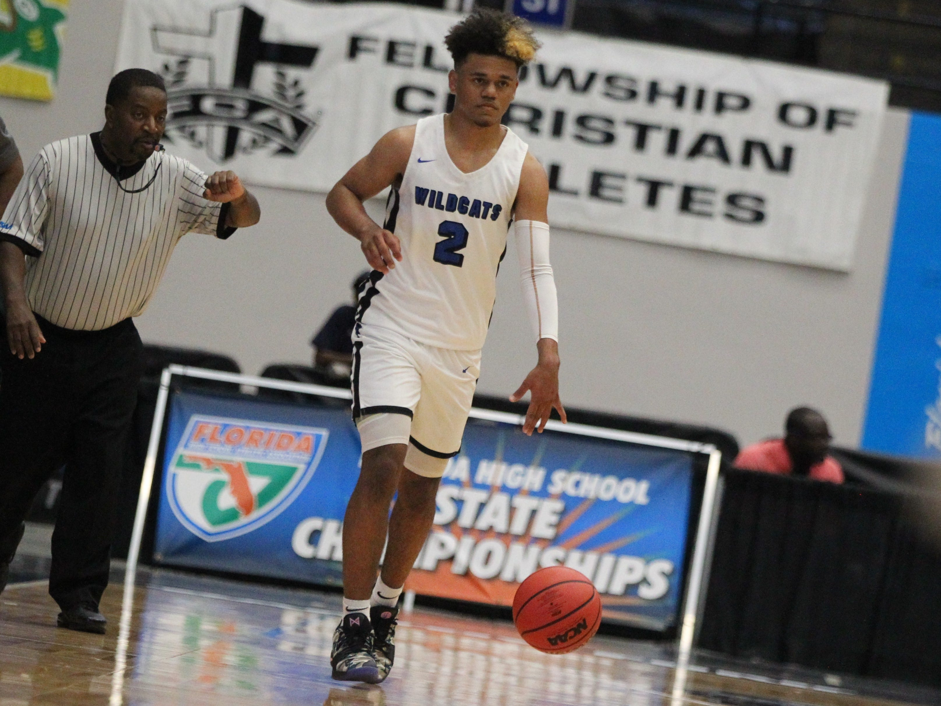 Franklin County lost 76-60 to Wildwood during a Class 1A state semifinal at the RP Funding Center in Lakeland on March 4, 2019.