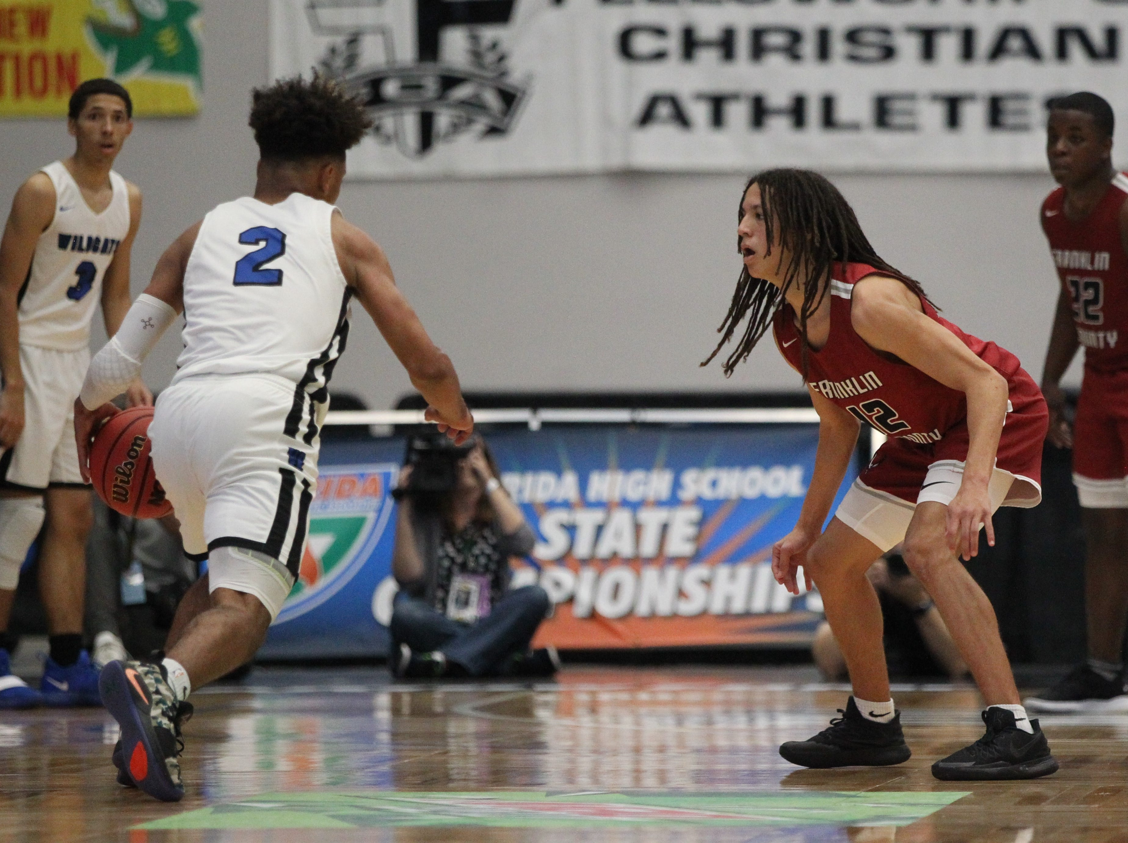 Franklin County lost 76-62 to Wildwood during a Class 1A state semifinal at the RP Funding Center in Lakeland on March 4, 2019.