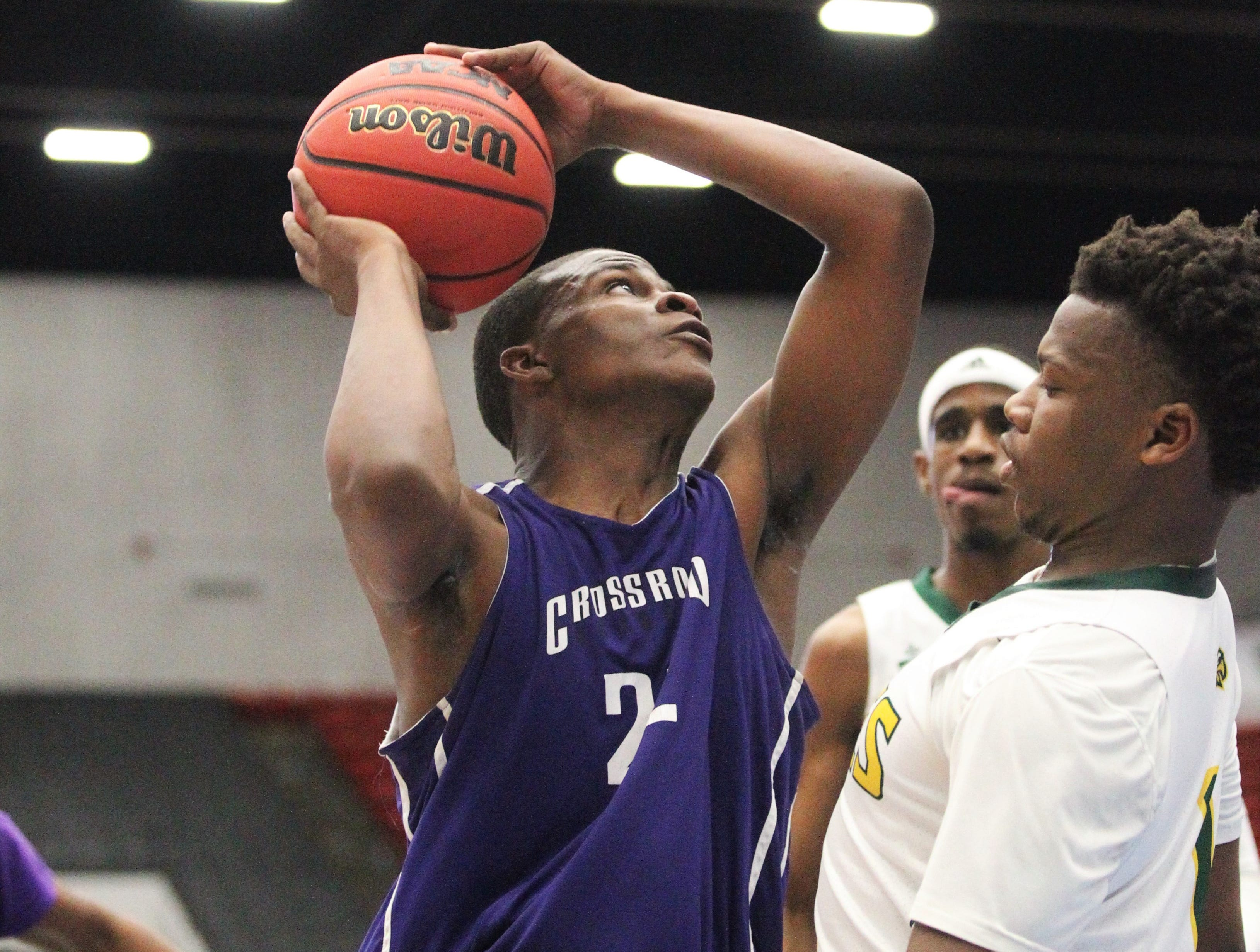 Crossroad Academy fell 59-44 to Central Florida Christian during a Class 2A state semifinal at the RP Funding Center in Lakeland on March 4, 2019.