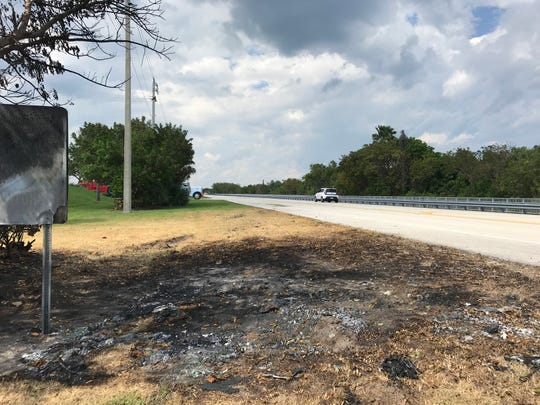 Four people died in a fiery crash Friday night in St. Lucie County.