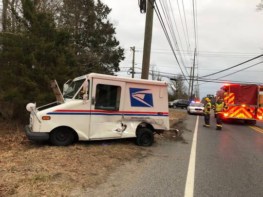A U.S. Postal Service employee was injured after his work vehicle was allegedly struck by a hit-and-run driver on Feb. 27, 2019.