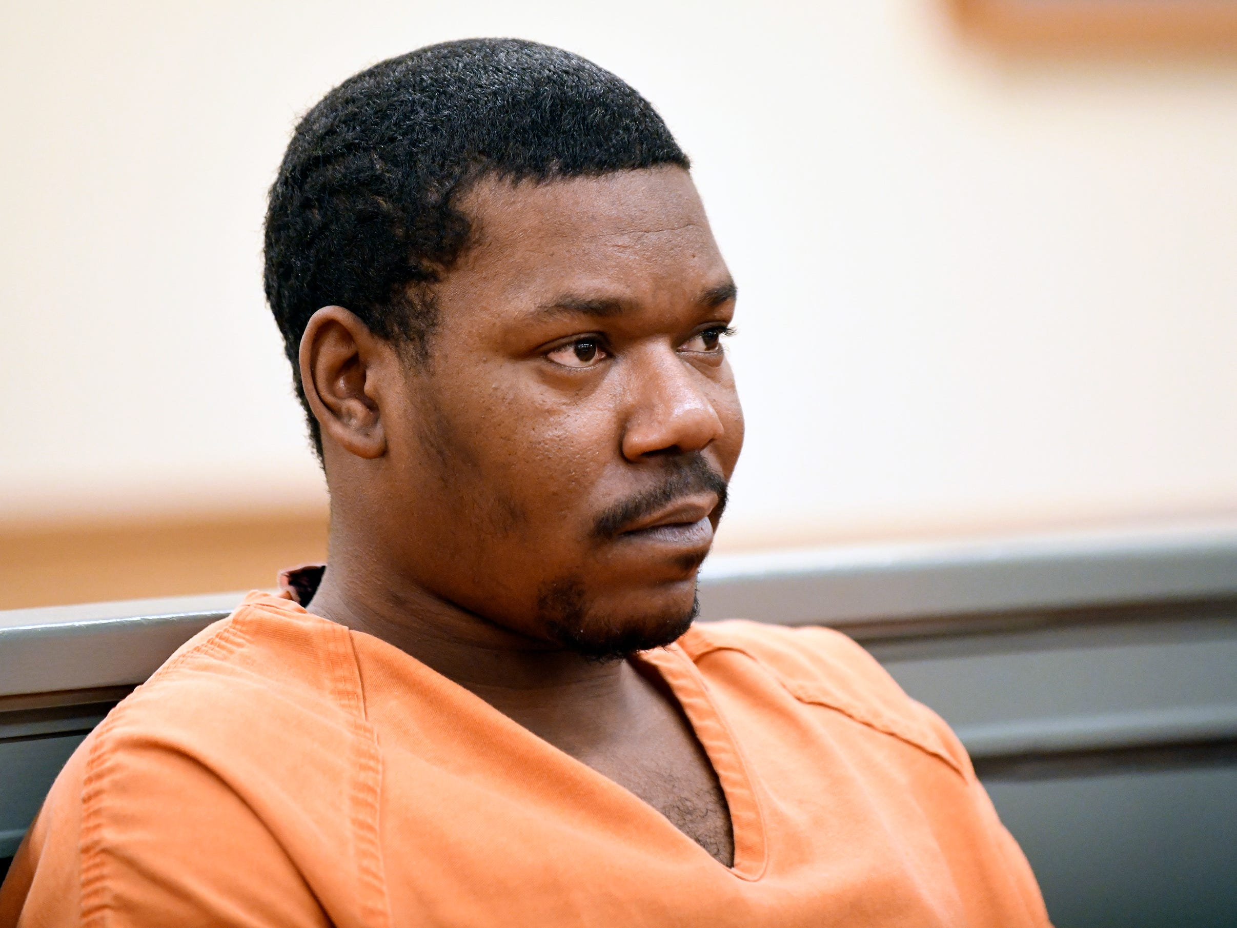 Clifton D. Bailey appears in Cumberland County Superior Court before Judge Michael Silvanio on Monday, March 4, 2019. Bailey is charged with homicide in the killing of Joseph Jones behind Lakeside Middle School in Millville.