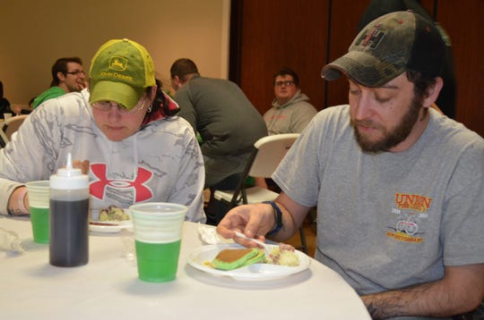 Guests enjoy green beer and green pancakes at a Vineland's Career Firefighters FMBA Local 49/249 Kegs & Eggs event. This year's event will be held on March 16.