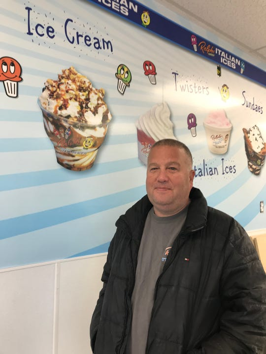 Scott Rosenberg, the owner of Ralph's Italian Ices & Ice Cream at his new Mamaroneck location at 407 Mamaroneck Avenue. Photographed March 1, 2019.