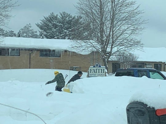 The Wisconsin Rapids Police Department posted this photo March 2, 2019 of people shoveling fire hydrants in Wisconsin Rapids.