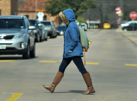 Heavy coats, hats, and gloves became the fashion statement for the day as area temperatures struggled to stay in the mid-twenties, Monday afternoon. The National Weather Service is calling for a high temperature around 42 for Tuesday and by the of the week with highs '60s and '70s.