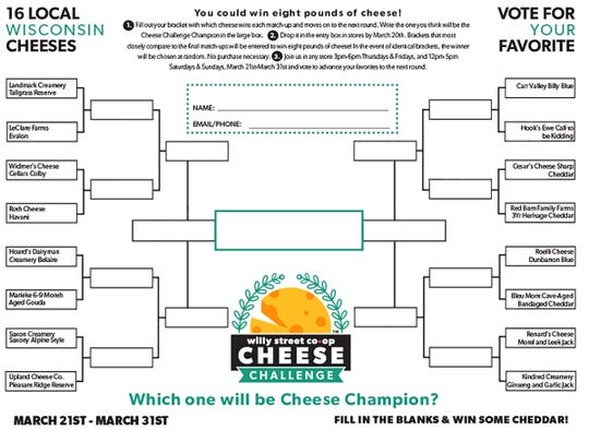 Join the annual Cheese Challenge at Willy Street Co-op where 16 Wisconsin cheeses will compete in a taste test.