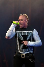 "Prodigy singer Keith Flint snarled his way through EDM songs like ""Firestarter."""