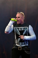 "Prodigy singer Keith Flint snarled his way through EDM songs like ""Firestarter."""