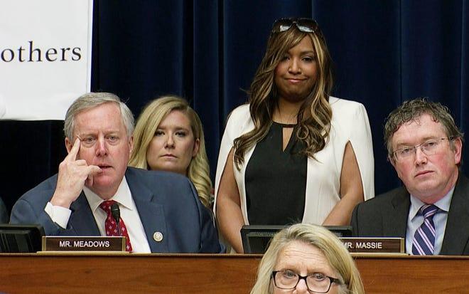 Rep. Mark Meadows, R-N.C., with Lynne Patton in Washington, D.C., on Feb. 27, 2019.