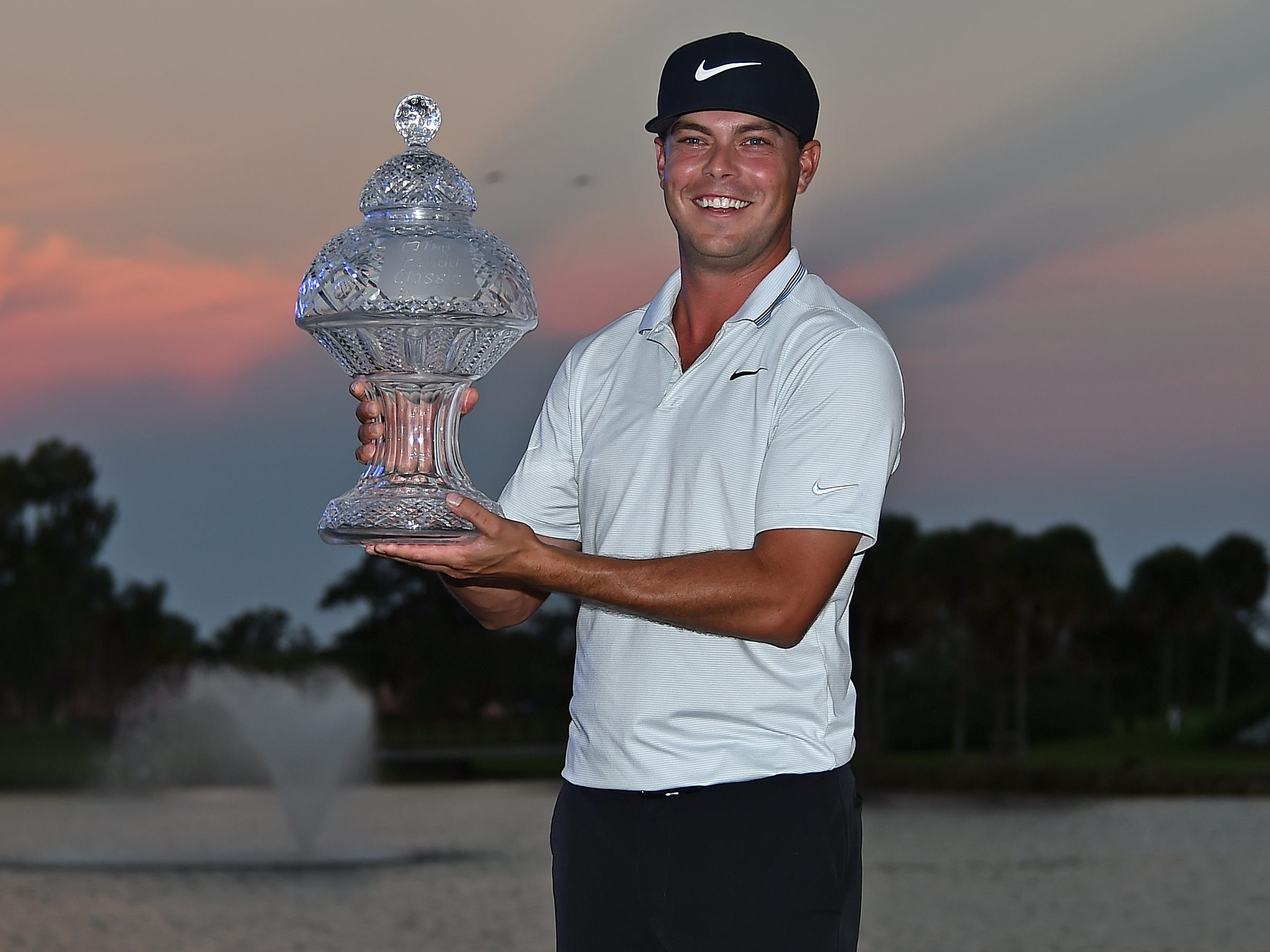 March 3: Keith Mitchell celebrates his first career PGA Tour win the The Honda Classic at PGA National in Palm Beach Gardens, Fla.