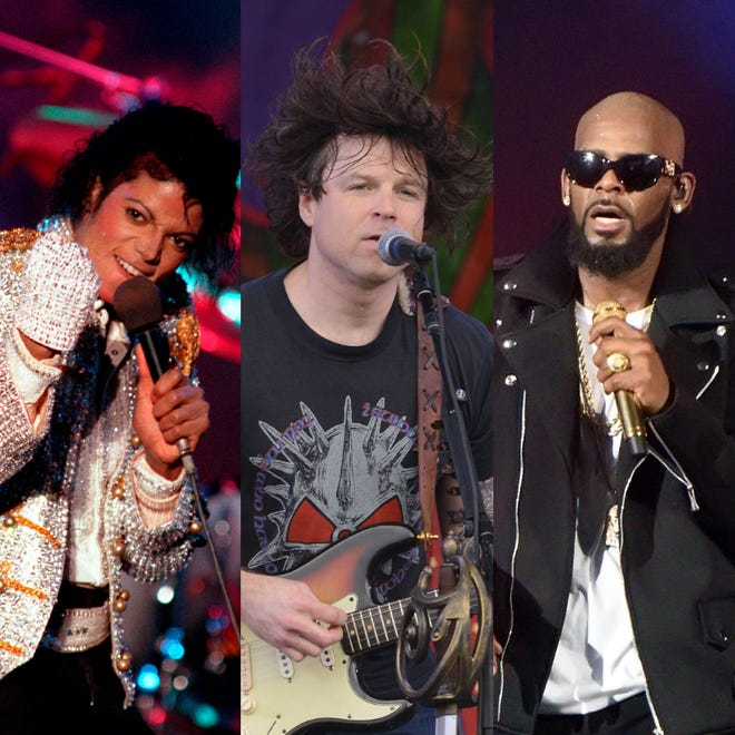 Michael Jackson, Ryan Adams and R. Kelly.