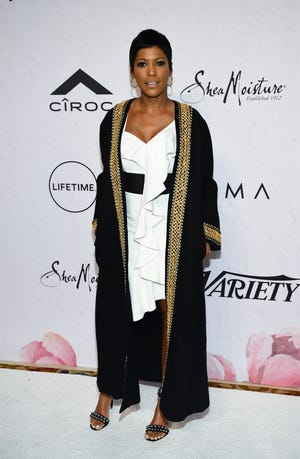 Tamron Hall says she's 32 weeks along into her first pregnancy.