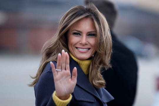 """First lady Melania Trump left Washington for a """"Be Best"""" promotional tour that is taking her to Tulsa, Oklahoma as well as Seattle and Las Vegas."""