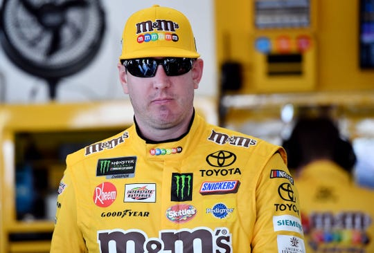 Kyle Busch, shown in February during Daytona Speedweeks, was trying to sweep all three races at his hometown Las Vegas Motor Speedway.