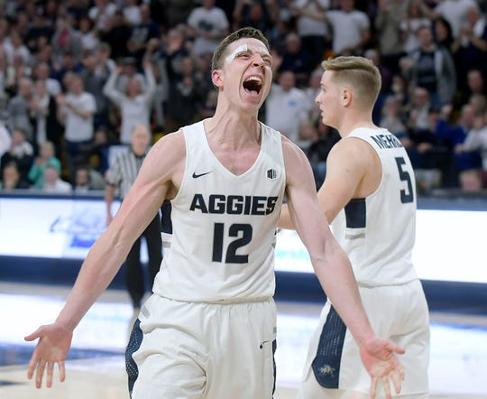 Utah State forward Justin Bean and the Aggies got a big win against Fresno State on Friday.
