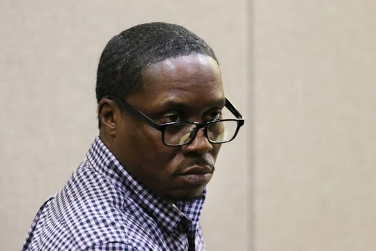 Jerry Spaulding listens during closing arguments at the trial of Ebenezer Byrd, Gregory Jean-Baptiste and Jerry Spaulding in the mistaken-identity murder of Red Bank schoolteacher, Jonelle Melton, in her Neptune City apartment in 2009 at Monmouth County Courthouse in Freehold, NJ Tuesday, March 5, 2019.