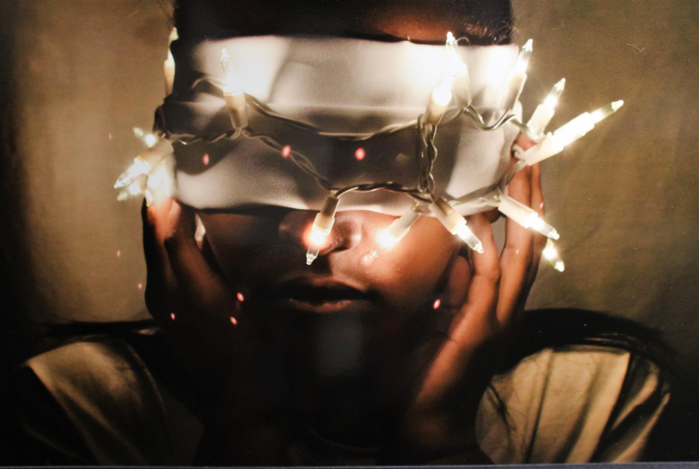 """Blindfold of Lights,"" digital photography, Stasia Conner, Abilene High School"