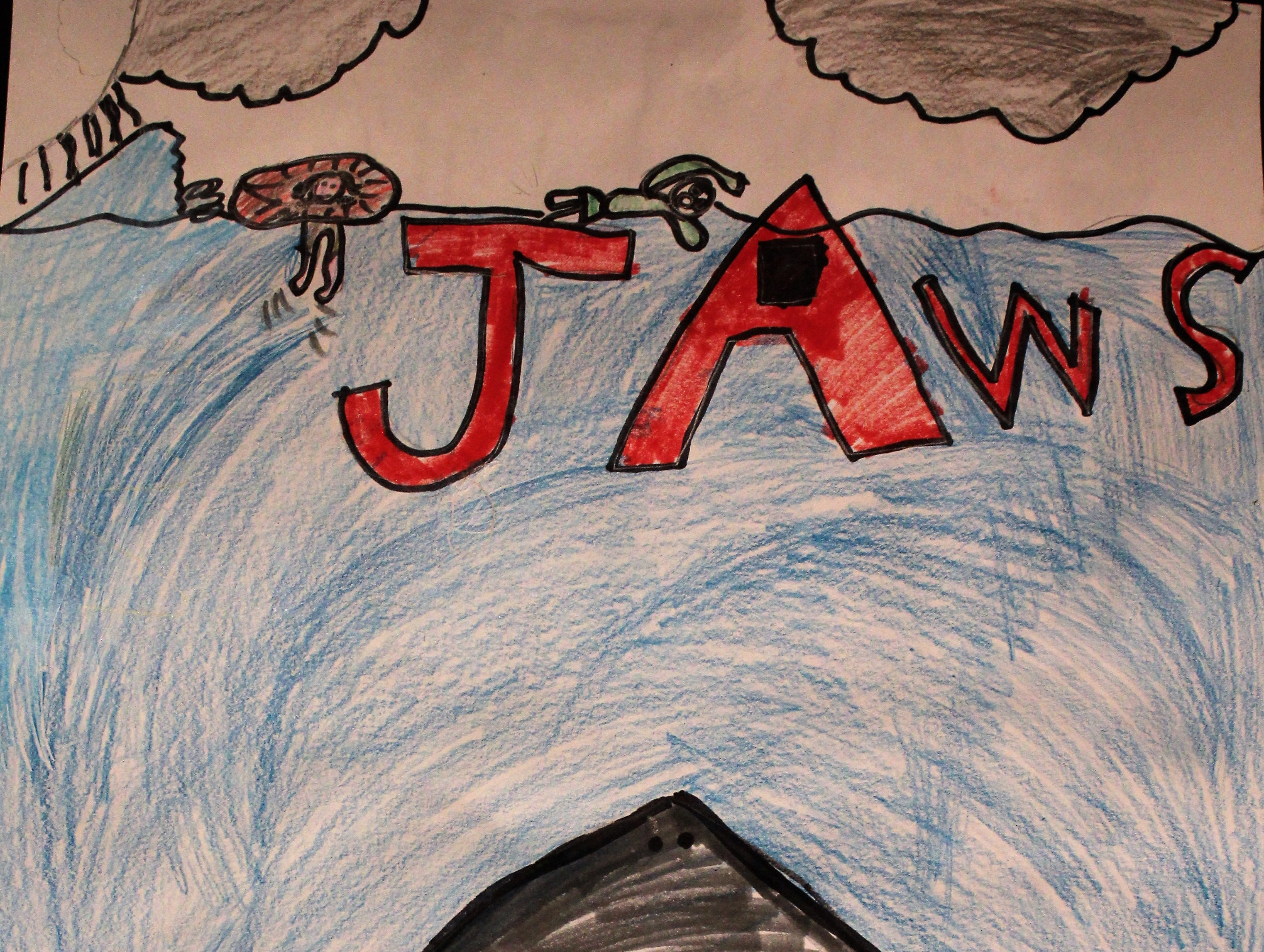 """Shark,"" colored pencil, Jakob Elliot, Ward Elementary School 5th grader"