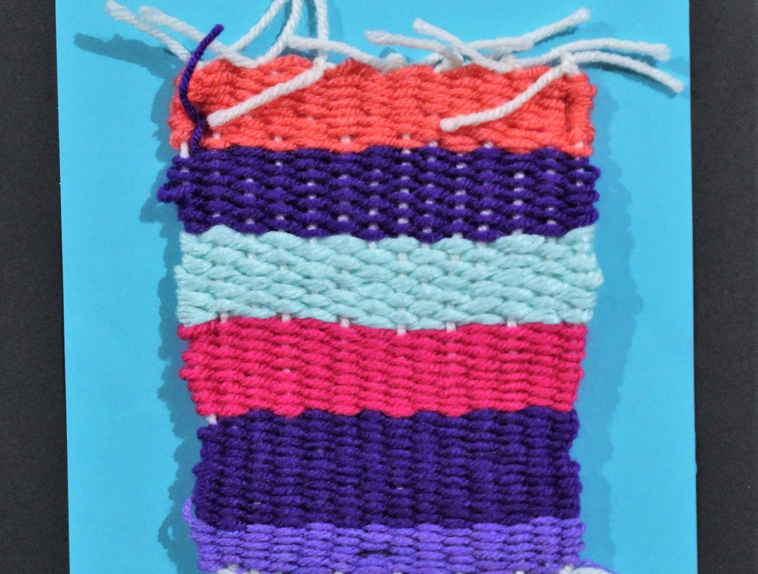Untitled, yarn, Alicia Valdez, Ortiz Elementary School 5th grader