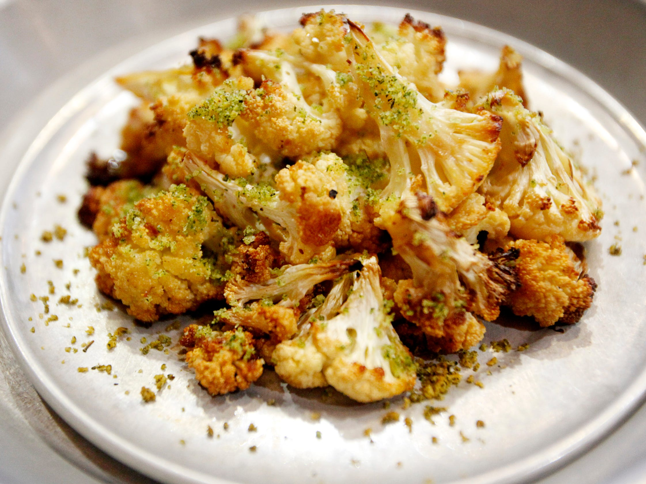 Roasted cauliflower from Monk's Flask in Biltmore Park March 1, 2019.