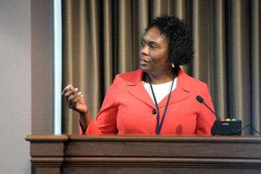 At a work session on April 30, 2019, Buncombe County manager Avril Pinder proposed the county lift the salaries of about 15 workers to $15 per hour.