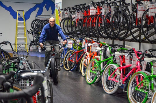 Mike Wood's bike shop started as Lakeview Schwinn Bike Shop in 1986. It's had a number of name changes over the years, including its most recent change to Mike's Team Active Bikes in 2018.