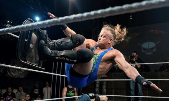 "Rob Van Dam, from Battle Creek, is the focus of a recent documentary about the pro wrestler called ""Headstrong."""