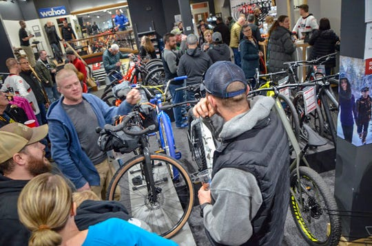 Mike's Team Active Bikes' 26th annual end-of-winter party, on Friday, Feb. 22, 2019, was filled with giveaways, food, drinks and conversation.