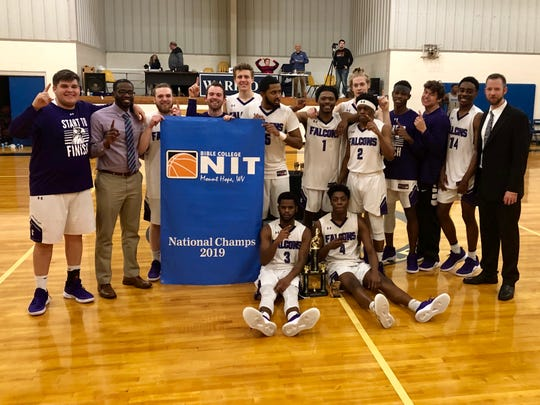 Davis College's national basketball champions.