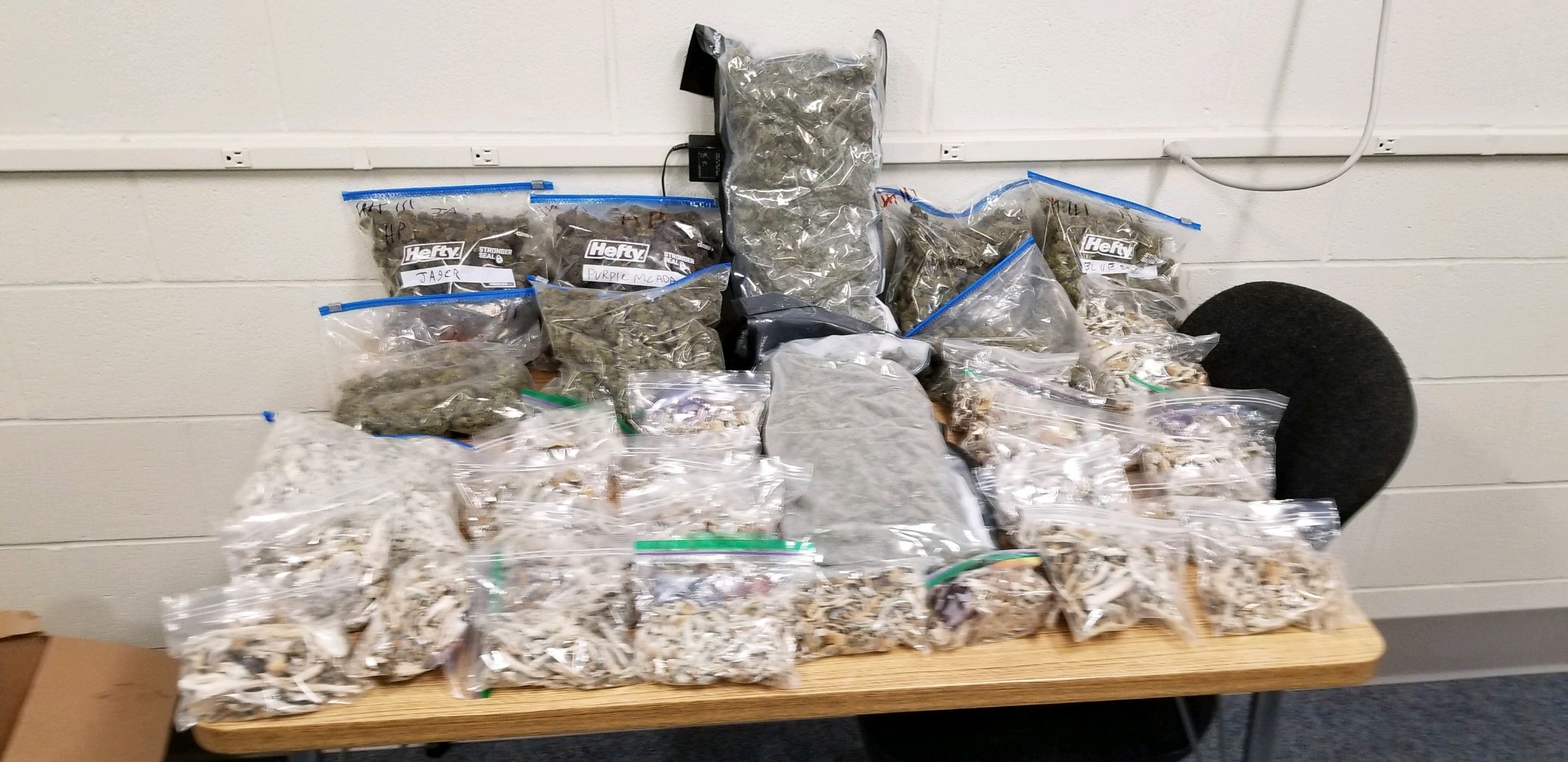 Thousands of dollars in packaged psilocybin mushrooms  and marijuana were seized in an Otsego County drug bust.