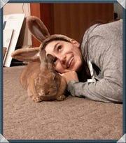 Julia Scullion with her rabbit, Cinnabun.