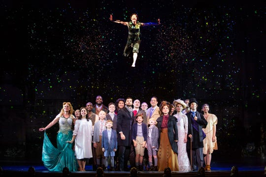 "The touring cast of ""Finding Neverland"" performs a scene in the musical, based on the beloved story of Peter Pan."